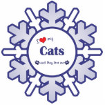 I Love My Cats (Multiple Cats) Photo Cutouts