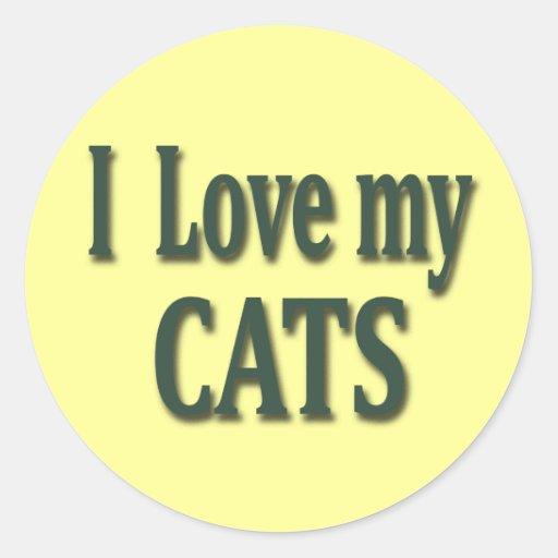 I Love my Cats Sticker