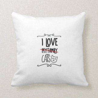 I love my cats throw pillow