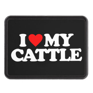I LOVE MY CATTLE HITCH COVER