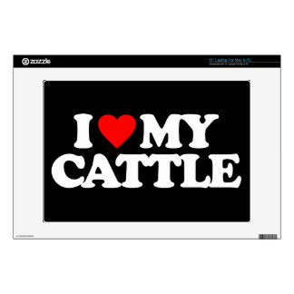 I LOVE MY CATTLE DECAL FOR LAPTOP