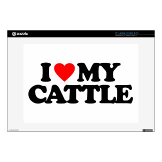 """I LOVE MY CATTLE DECAL FOR 13"""" LAPTOP"""
