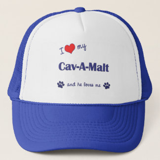 I Love My Cav-A-Malt (Male Dog) Trucker Hat