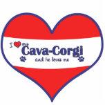 I Love My Cava-Corgi (Male Dog) Photo Cut Outs
