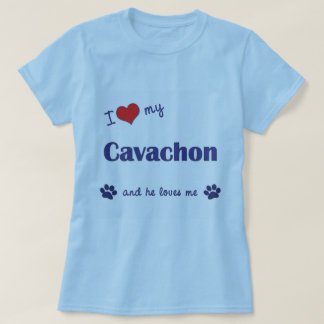 I Love My Cavachon (Male Dog) T-Shirt