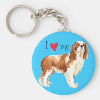 I Love my Cavalier Basic Round Button Keychain
