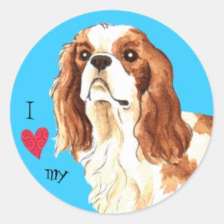 I Love my Cavalier Classic Round Sticker