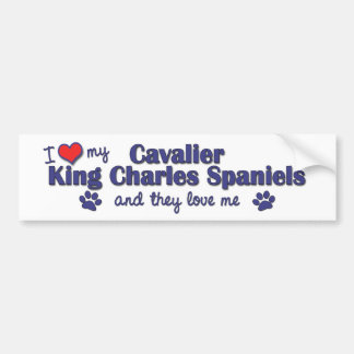 I Love My Cavalier King Charles (Multiple Dogs) Bumper Sticker