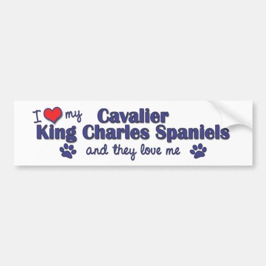 I Love My Cavalier King Charles (Multiple Dogs) Bumper Sticker