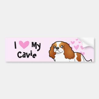 I Love My Cavalier King Charles Spaniel Car Bumper Sticker