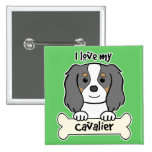 I Love My Cavalier King Charles Spaniel 2 Inch Square Button