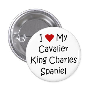 I Love My Cavalier King Charles Spaniel Dog Gifts Pinback Button