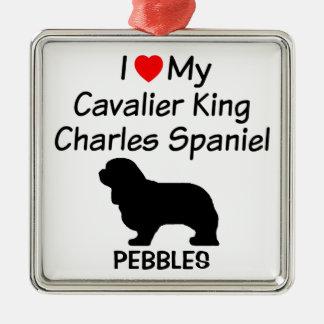 I Love My Cavalier King Charles Spaniel Dog Metal Ornament