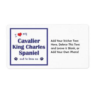 I Love My Cavalier King Charles Spaniel (Male Dog) Label