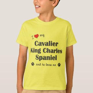 I Love My Cavalier King Charles Spaniel (Male Dog) T-Shirt