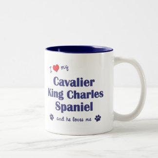 I Love My Cavalier King Charles Spaniel (Male Dog) Two-Tone Coffee Mug