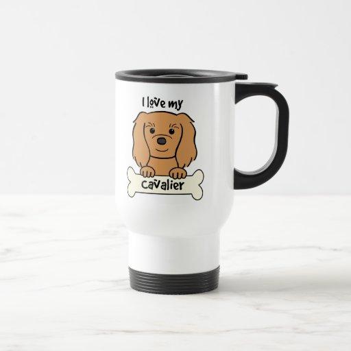 I Love My Cavalier King Charles Spaniel 15 Oz Stainless Steel Travel Mug