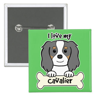 I Love My Cavalier King Charles Spaniel Pinback Button