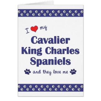 I Love My Cavalier King Charles Spaniels (Multi) Card