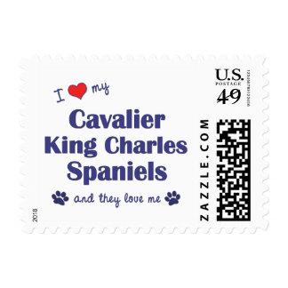 I Love My Cavalier King Charles Spaniels (Multi) Postage Stamp