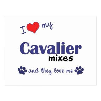 I Love My Cavalier Mixes (Multiple Dogs) Postcard