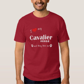 I Love My Cavalier Mixes (Multiple Dogs) T Shirt