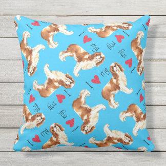 I Love my Cavalier Outdoor Pillow