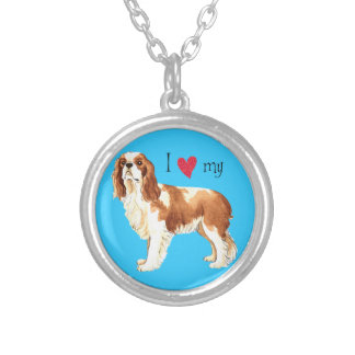I Love my Cavalier Silver Plated Necklace