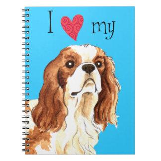 I Love my Cavalier Spiral Notebook