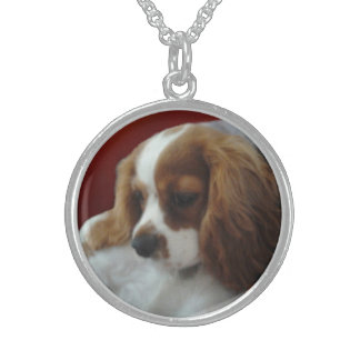 I Love My Cavalier Sterling Silver Necklace