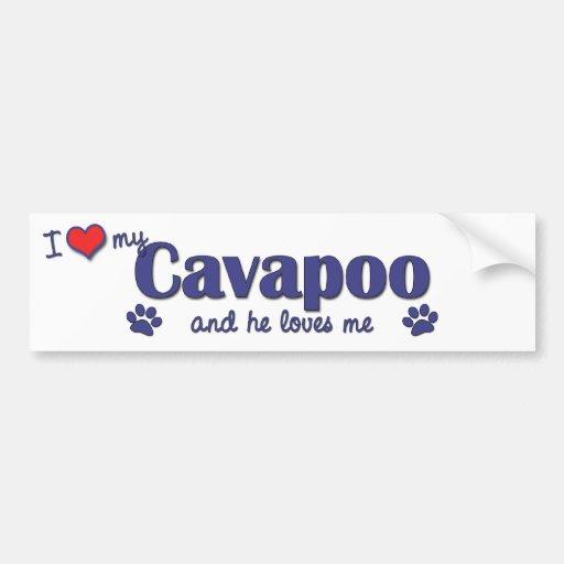 I Love My Cavapoo (Male Dog) Car Bumper Sticker