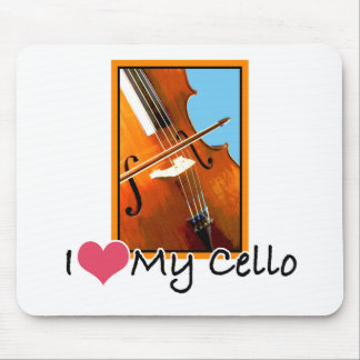 I Love My Cello Mouse Pad