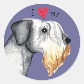 I Love my Cesky Terrier Classic Round Sticker