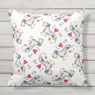 I Love my Cesky Terrier Outdoor Pillow