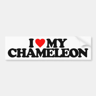 I LOVE MY CHAMELEON CAR BUMPER STICKER