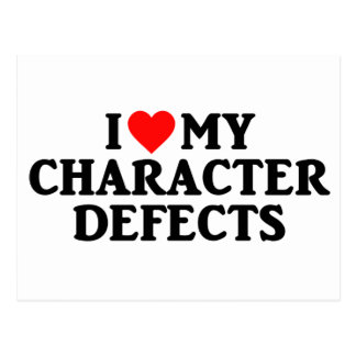 I LOVE MY CHARACTER DEFECTS Postcard (Post Card)