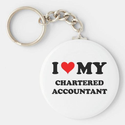 I Love My Chartered Accountant Basic Round Button Keychain