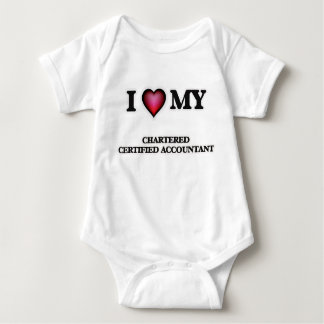 I love my Chartered Certified Accountant Baby Bodysuit