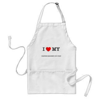 I Love My CHARTERED MANAGEMENT ACCOUNTANT Adult Apron
