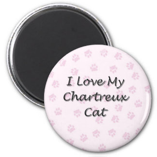 I Love My Chartreux Cat 2 Inch Round Magnet