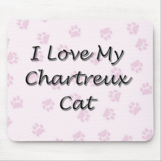 I Love My Chartreux Cat Mouse Pad
