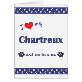 I Love My Chartreux (Female Cat) Stationery Note Card