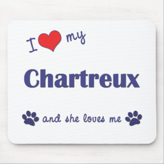 I Love My Chartreux (Female Cat) Mouse Pad