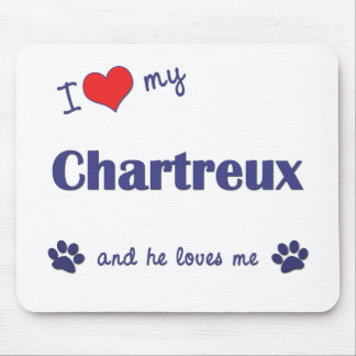 I Love My Chartreux (Male Cat) Mouse Pad