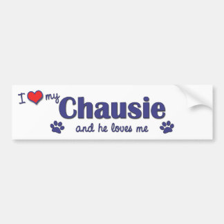 I Love My Chausie (Male Cat) Bumper Sticker