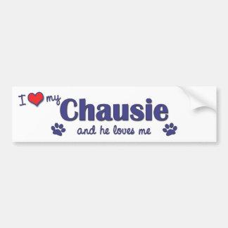 I Love My Chausie (Male Cat) Bumper Sticker