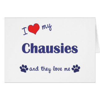 I Love My Chausies (Multiple Cats) Greeting Cards