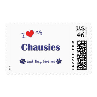 I Love My Chausies (Multiple Cats) Stamp