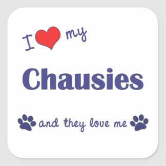 I Love My Chausies (Multiple Cats) Sticker
