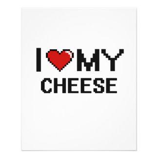 "I Love My Cheese Digital design 4.5"" X 5.6"" Flyer"